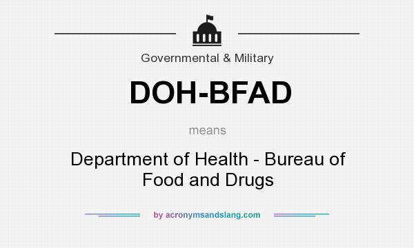 What does doh bfad mean definition of doh bfad doh for Bureau meaning