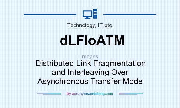 What does dLFIoATM mean? It stands for Distributed Link Fragmentation and Interleaving Over Asynchronous Transfer Mode
