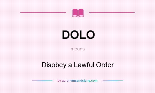 Obeying a lawful order essay