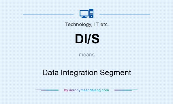 What does DI/S mean? It stands for Data Integration Segment