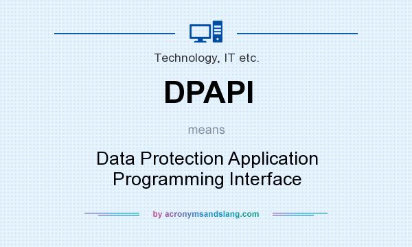 What does DPAPI mean? It stands for Data Protection Application Programming Interface