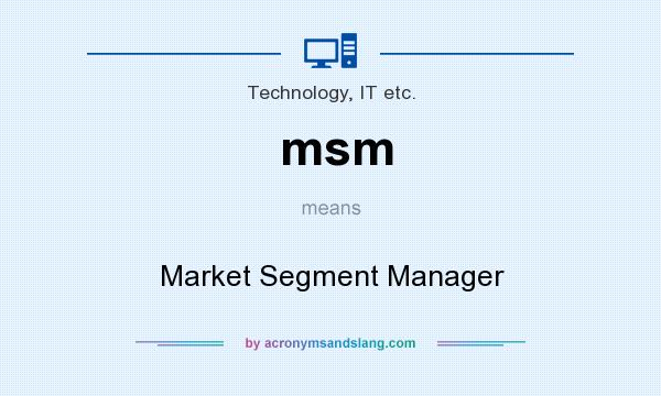 msm - Market Segment Manager in Technology, IT etc  by