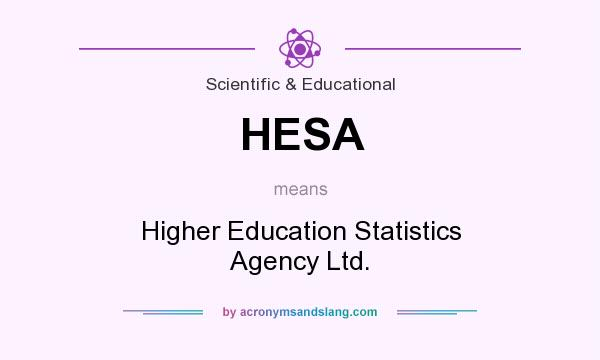 What does HESA mean? It stands for Higher Education Statistics Agency Ltd.