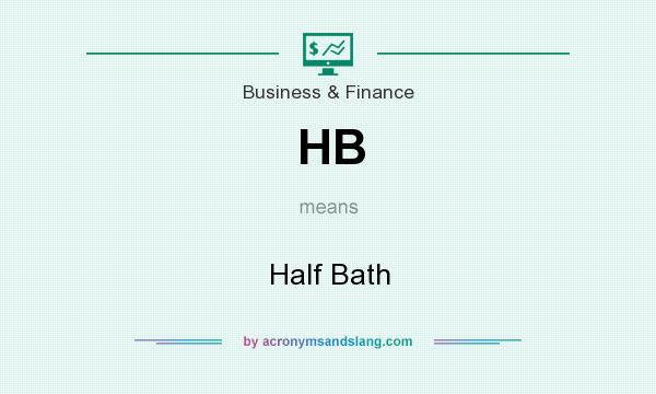 What does HB mean? It stands for Half Bath