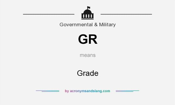 What does GR mean? It stands for Grade