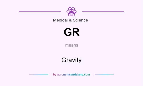 What does GR mean? It stands for Gravity