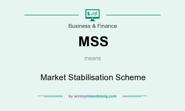 What does MSS mean? It stands for Market Stabilisation Scheme