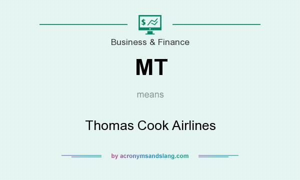 What does MT mean? It stands for Thomas Cook Airlines