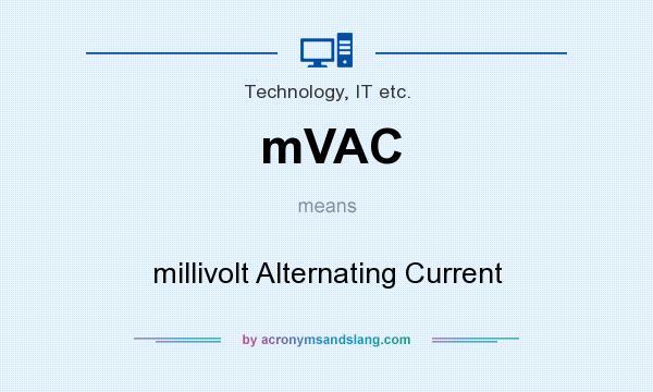 mV - millivolt