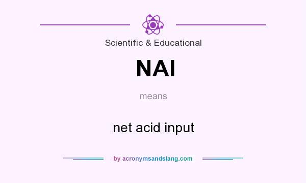 What does NAI mean? It stands for net acid input