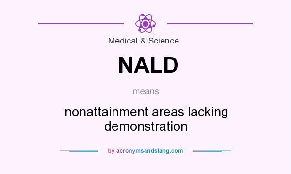 What does NALD mean? It stands for nonattainment areas lacking demonstration