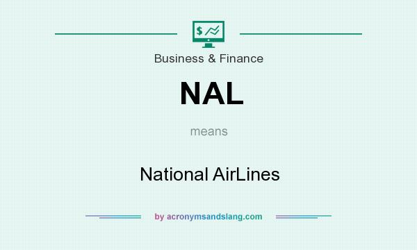 What does NAL mean? It stands for National AirLines