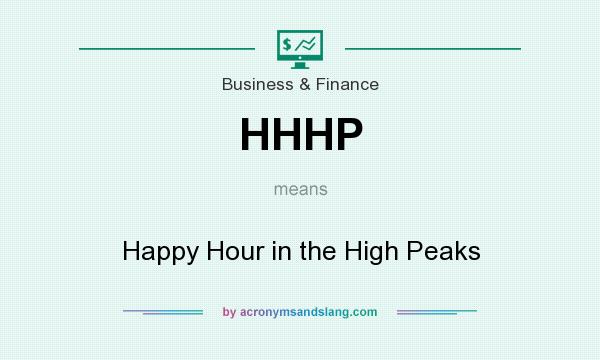 What does HHHP mean? It stands for Happy Hour in the High Peaks