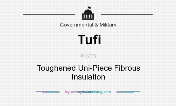 What does Tufi mean? It stands for Toughened Uni-Piece Fibrous Insulation
