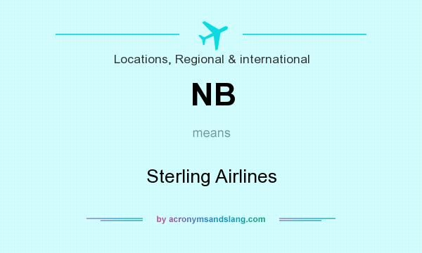 What does NB mean? It stands for Sterling Airlines