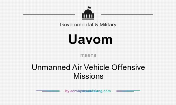 What does Uavom mean? It stands for Unmanned Air Vehicle Offensive Missions