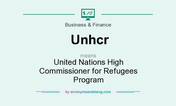 What does Unhcr mean? It stands for United Nations High Commissioner for Refugees Program
