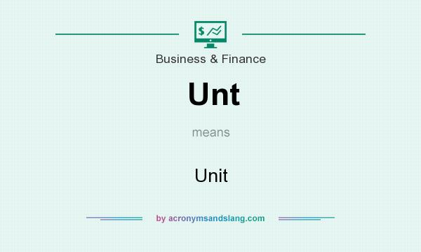 What does Unt mean? It stands for Unit