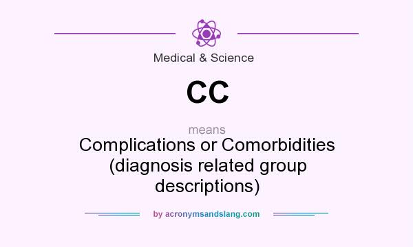 What does CC mean? It stands for Complications or Comorbidities (diagnosis related group descriptions)