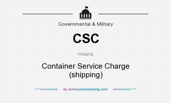 What does CSC mean? It stands for Container Service Charge (shipping)