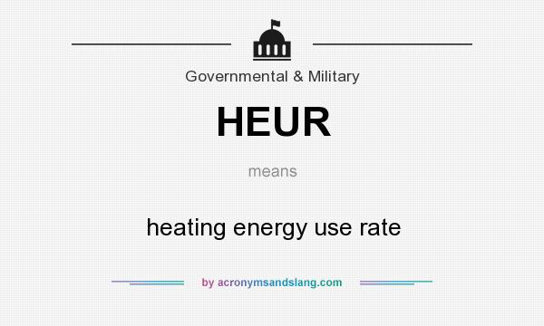 What does HEUR mean? It stands for heating energy use rate
