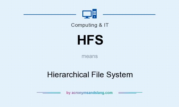 What does HFS mean? It stands for Hierarchical File System