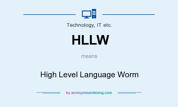What does HLLW mean? It stands for High Level Language Worm