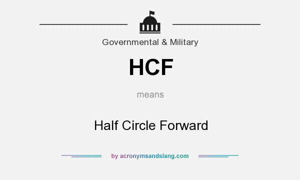 What does HCF mean? It stands for Half Circle Forward