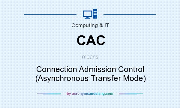 What does CAC mean? It stands for Connection Admission Control (Asynchronous Transfer Mode)