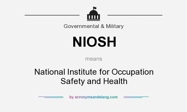 What does NIOSH mean? It stands for National Institute for Occupation Safety and Health