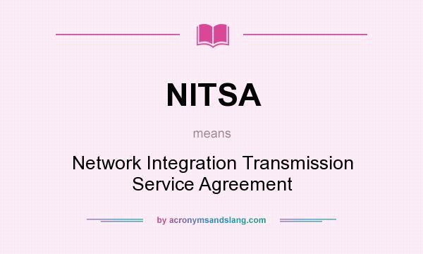Nitsa Network Integration Transmission Service Agreement In