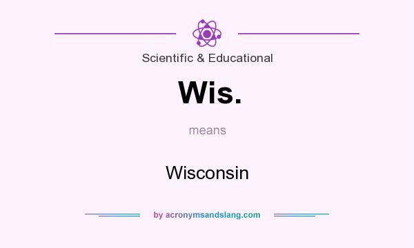 What does Wis. mean? It stands for Wisconsin