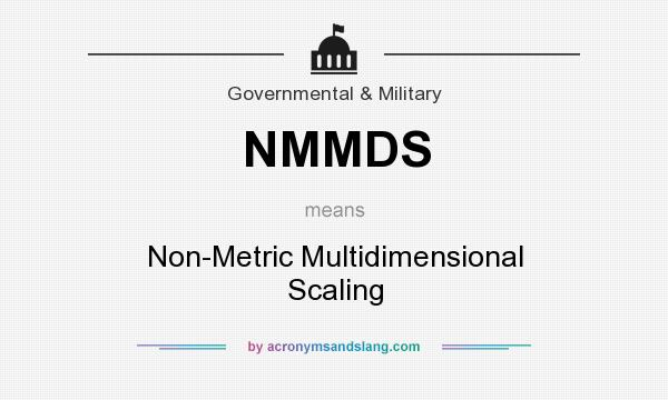What does NMMDS mean? It stands for Non-Metric Multidimensional Scaling