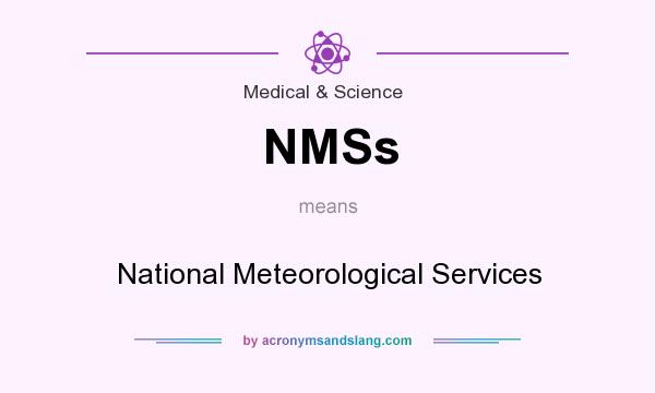 What does NMSs mean? It stands for National Meteorological Services