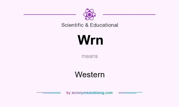 What does Wrn mean? It stands for Western