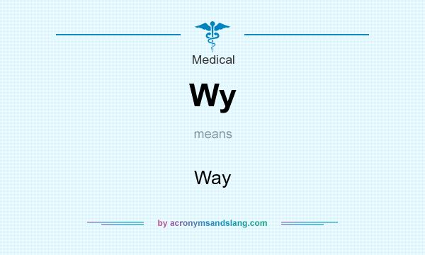 What does Wy mean? It stands for Way