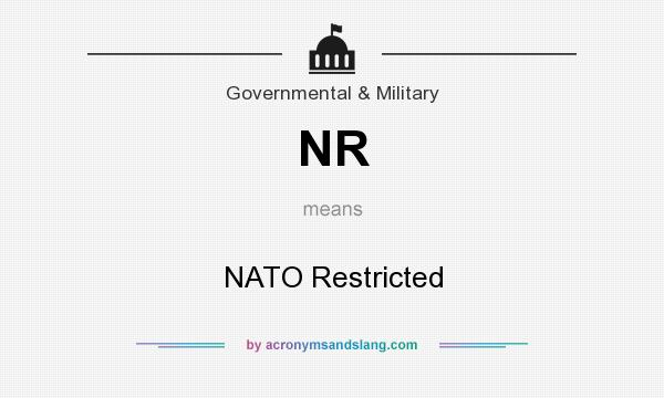 What does NR mean? It stands for NATO Restricted