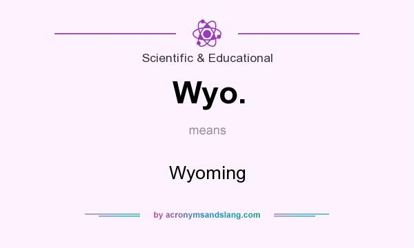 What does Wyo. mean? It stands for Wyoming