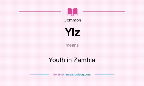 What does Yiz mean? - Definition of Yiz - Yiz stands for Youth in Zambia.  By AcronymsAndSlang.com