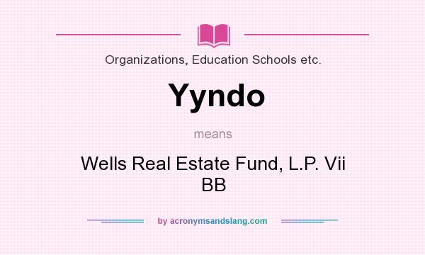What does Yyndo mean? It stands for Wells Real Estate Fund, L.P. Vii BB