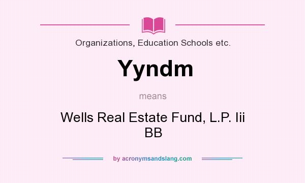 What does Yyndm mean? It stands for Wells Real Estate Fund, L.P. Iii BB