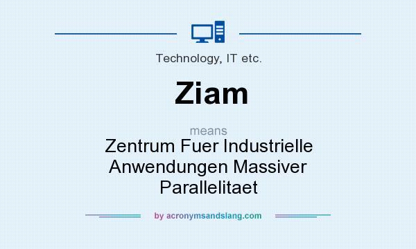 What does Ziam mean? It stands for Zentrum Fuer Industrielle Anwendungen Massiver Parallelitaet