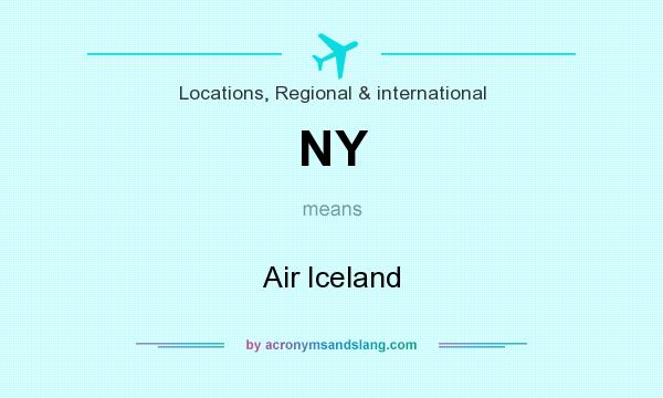 What does NY mean? It stands for Air Iceland