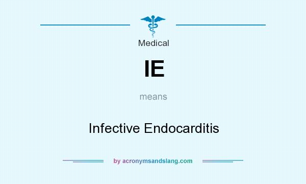 Ie medical abbreviation