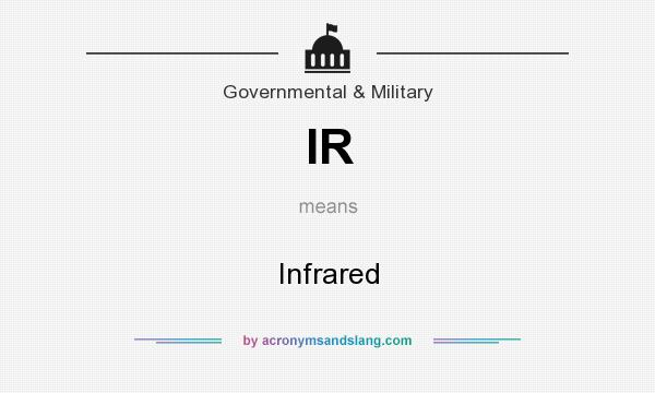 What does IR mean? It stands for Infrared