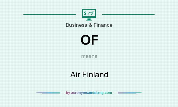 What does OF mean? It stands for Air Finland