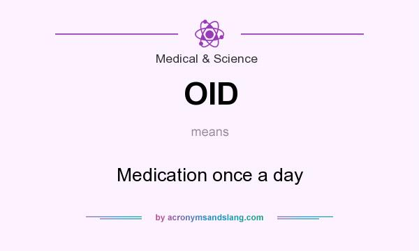 Once a day medical abbreviation