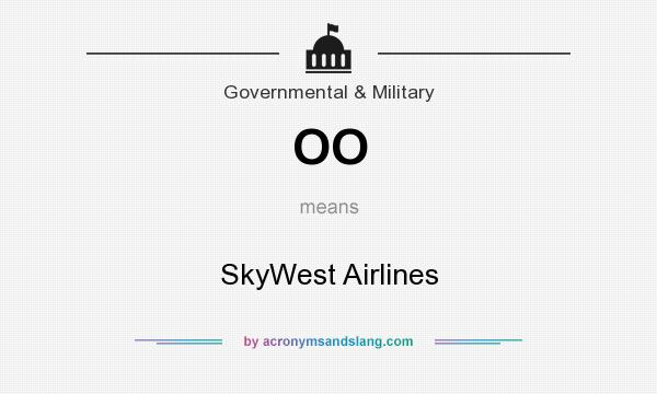 What does OO mean? It stands for SkyWest Airlines