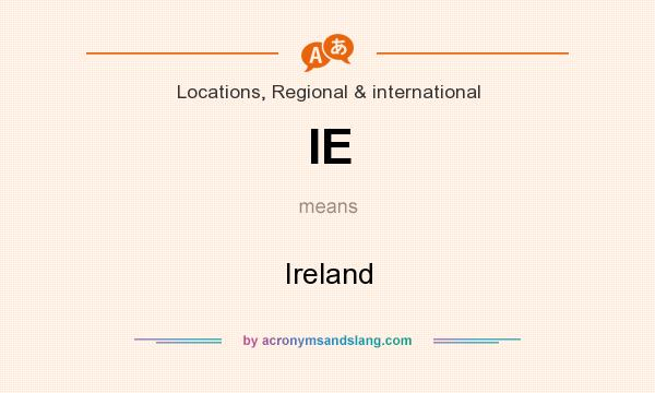 What does IE mean? It stands for Ireland