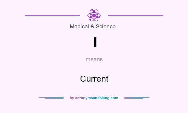 What does I mean? It stands for Current